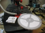Cutting clock gears.